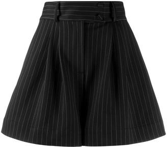 Styland pinstripe wide leg shorts