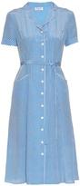 HVN Maria heart-print short-sleeved dress