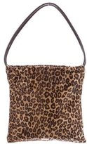 Moschino Printed Ponyhair Tote