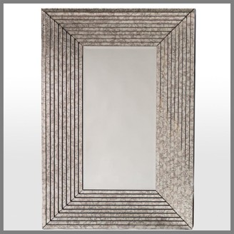 Horgans Antiqued Step Mirror