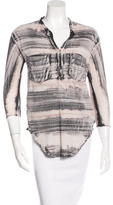 Raquel Allegra Tie-Dye V-Neck Top