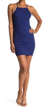Lush Scalloped Sleeveless Dress