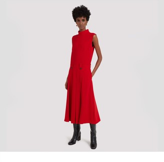 Mulberry Primrose Dress Scarlet Fluid Crepe