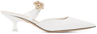 Loewe White Flower Mules