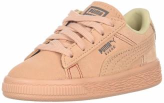 Puma Girls' Suede Classic Peach Basket Sneaker