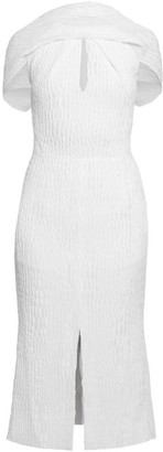 Roland Mouret Belem Rippled Silk Sheath Dress