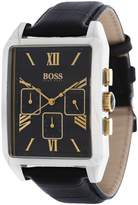 HUGO BOSS 1512726 mm Stainless Steel Case Black Leather Acrylic Men's Watch