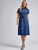 Dorothy Perkins Denim Shirt Dress Blue