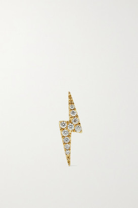 Maria Tash Lightning Bolt 18-karat Gold Diamond Earring