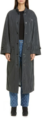 Marine Serre Reflective Print Nylon A-Line Raincoat
