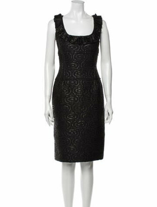 Oscar de la Renta 2007 Knee-Length Dress Black