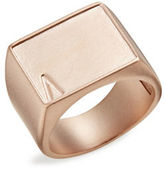 Atelic Nude Goldtone Rectangle Ring