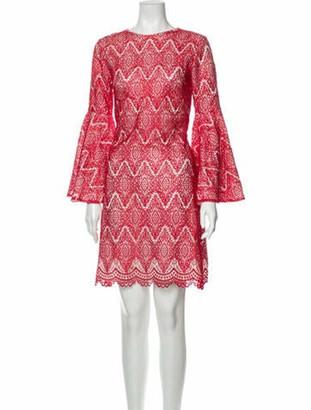 Mestiza New York Lace Pattern Mini Dress w/ Tags Red