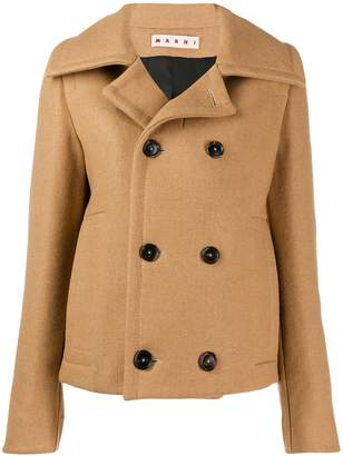 Marni cropped double-breasted coat