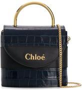 Chloé small Aby Lock crocodile-effect bag
