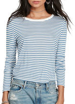 Denim & Supply Ralph Lauren Striped Pima Cotton Crewneck Tee