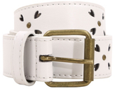 George Punch-hole Heart Detail Belt