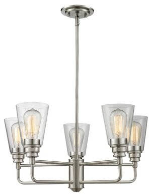 Clayton Laurel Foundry Modern Farmhouse 5-Light Semi Flush Mount Laurel Foundry Modern Farmhouse Finish: Brushed Nickel