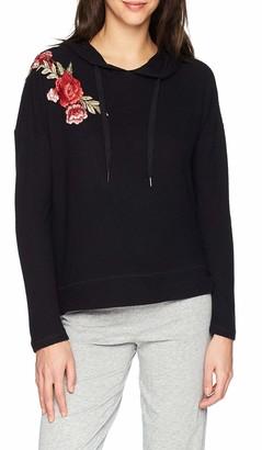 PJ Salvage Women's Rock N' Rose Embroidered Hoodie