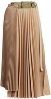 Sacai Suiting Pleated Midi Skirt