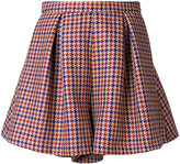 L'Autre Chose houndstooth check shorts