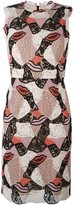Emilio Pucci embroidered lips sheath dress