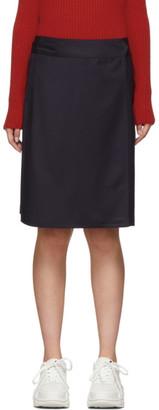 A.P.C. Navy Stitch Miniskirt