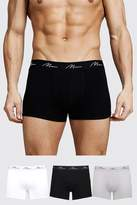 BoohoomanBoohooMAN Mens Multi 3 Pack MAN Signature Mixed Colour Trunks, Multi