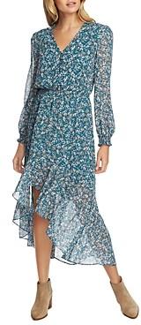 1 STATE Woodland Floral Cutaway Hem Dress