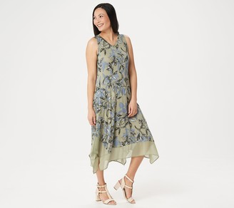 Logo by Lori Goldstein Knit Sleeveless Maxi Dress with Chiffon Trim