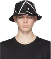 Acne Studios Black Face Motif Bucket Hat