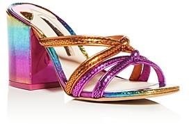 Sophia Webster Women's Freya Glitter Block-Heel Sandals