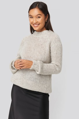 Trendyol Bike Collar Knitted Sweater Grey