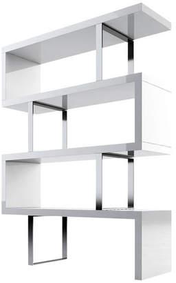 Modloft Pearl Bookcase, White Lacquer