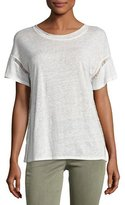 Joe's Jeans Arianna Short-Sleeve Linen Tee, White