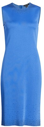 St. John Liquid Milano Stud Knit Sheath Dress