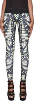 McQ by Alexander McQueen Black & Green Printed Leggings