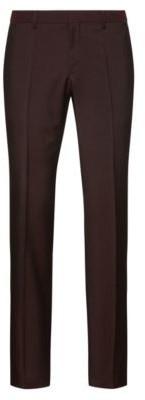 HUGO BOSS Slim-fit trousers in textured virgin wool