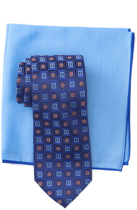 Ted Baker Silk Gradient Square Tie & Pocket Square Set