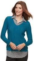 Croft & Barrow Women's 2-Fer Sweater