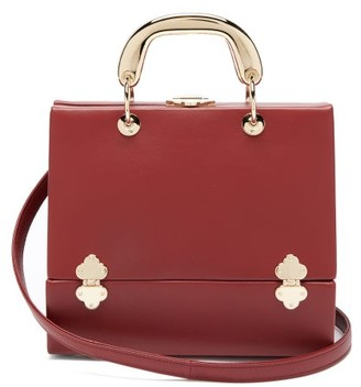 Rodo Sixty Six Small Leather Box Bag - Red