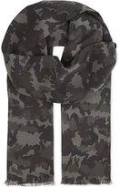 Tom Ford Camo print silk scarf