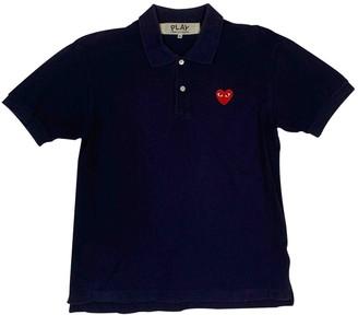Play Comme Des Garã§Ons Play Comme Des GarAons Navy Cotton Polo shirts