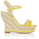 Alice + Olivia Alice & Olivia ALICE & OLIVIA WOMEN'S JANAYA JUTE WEDGE SANDALS-YELLOW SIZE 8