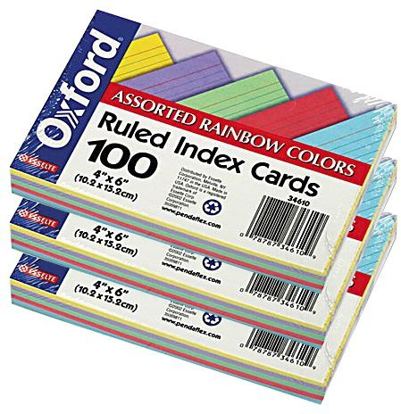 Oxford Ruled Index Cards, 4 X 6-inches