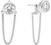 Michael Kors Front-Back Chain Stud Earrings