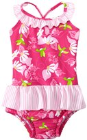 I Play Girls' Tropical One Piece Swimsuit w/Builtin Swim Diaper (6mos-3T) - 8145765