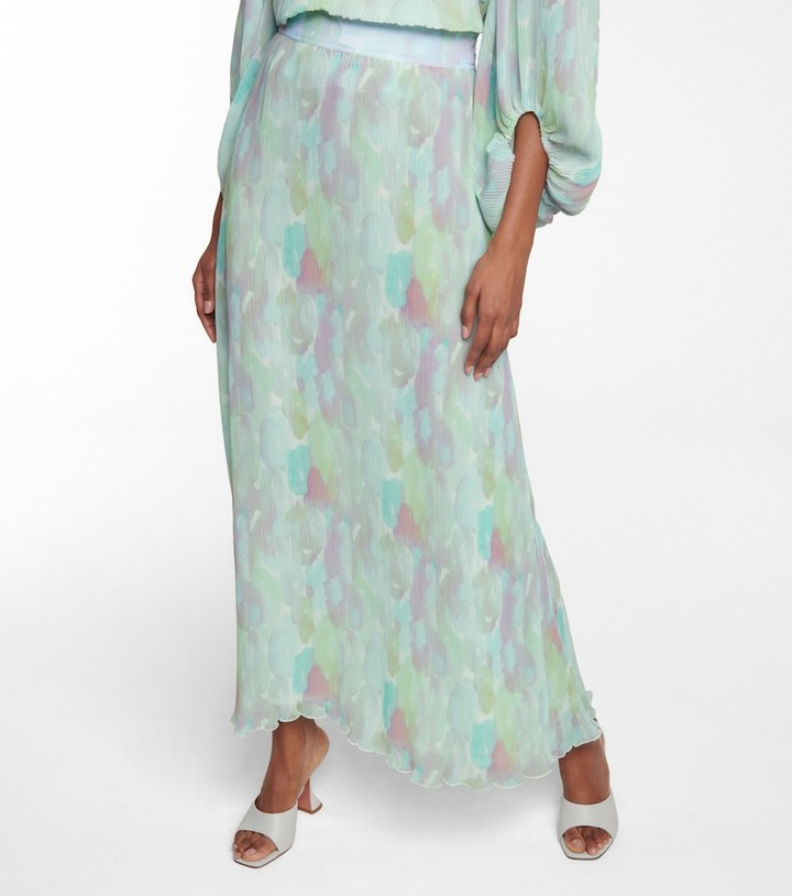 Thumbnail for your product : Ganni Pleated maxi skirt