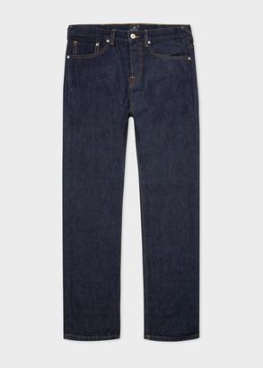 Paul Smith Men's Slim-Standard 'Organic Salt & Pepper' Indigo Jeans