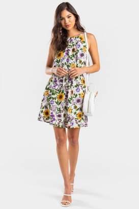 francesca's Faegan Daisy Flawless Dress - Multi